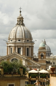 Rome - church and rooftops